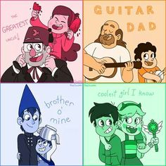Gravity Falls, Steven Universe, Over the Garden Wall, Star Vs. The Forces of Evil