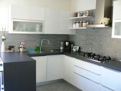 cucine pareti grigio piccole - Cerca con Google