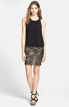 Aidan Mattox Sleeveless Sequin Skirt Dress available at #Nordstrom