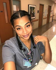 Outstanding Beauty hacks are offered on our internet site. Beautiful Nurse, Beautiful Black Women, Curly Hair Styles, Natural Hair Styles, Ebony Beauty, Dimples, Afro, Pretty Face, Pretty Woman
