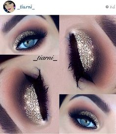 #sparkle #gold Smokey eyes, neutrals #tiarni