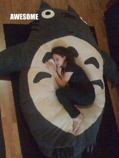 Saw a big pillow like this before but it was Snorelax and I wanted it as Totoro. My dream has been answered!