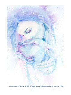 True Love Is A Dogs Love watercolor print by PeripheryStudio