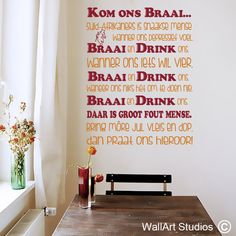 Craft Projects, Projects To Try, Change Management, Afrikaans, Vinyl Art, Wall Sticker, Slogan, Stencils, Wall Art