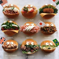Bento Recipes, Pureed Food Recipes, Baby Food Recipes, Cute Food, Good Food, Yummy Food, Japanese Sweets, Japanese Food, Japanese Sandwich
