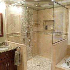 Ceramic Tile Walk In Showers Designs Design, Pictures, Remodel, Decor And  Ideas  . Transitional BathroomShower IdeasBath IdeasNatural StonesFor ...