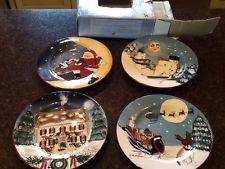 SAKURA ONEIDA DAVID CARTER BROWN MERRY LITTLE CHRISTMAS 4 - SALAD DESSERT PLATES