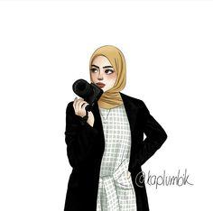 hijab art art by Hijab Drawing, Islamic Cartoon, Cute Muslim Couples, Hijab Cartoon, Islamic Art Calligraphy, Woman Drawing, Girl Wallpaper, Anime Art Girl, Aesthetic Art