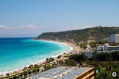 ialisos beach on Rhodes Greece Rhodes, Sea Colour, Beach Adventure, Crystal Clear Water, Greek Life, Beach Fun, Rhode Island, Night Life, Like4like