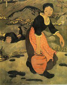 Paul Serusier  - Jeune bretonne а la cruche, 1892 (japonisme)