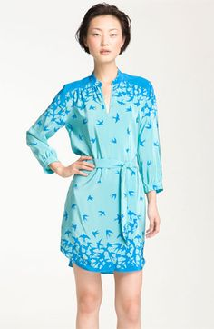 Amanda Uprichard 'Everyday' Print Silk Shirtdress   Nordstrom: Interesting use of a border print.
