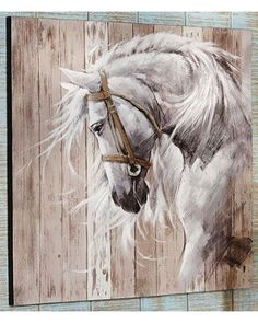 Giftcraft Horse Head Acrylic Paint Canvas Wall Decor | Sheplers