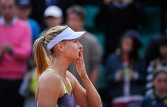 Maria Sharapova thanks the crowd after her snappy win over Taiwanese player Su-Wei Hsieh.