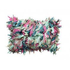 Anthea Cushion by Geraldine Larkin from miratis.com.  Fabulous laser cut hand embroidered silk taffeta feather cushion