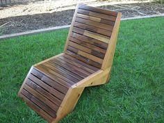 Deck Chair - Lawn Chair - Redwood Deck Chair - ...