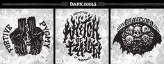Dark Souls Emblem Collection on Behance Ornstein Dark Souls, Soul Tattoo, Praise The Sun, Behance, Collection, Tattoo Ideas, Tattos, Ds, Shadows
