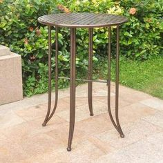 Crafted from heavy-duty wrought iron, the International Caravan Mandalay Bar Height Iron Patio Table has the strength needed to withstand even the. Glass Bar Table, Wood Bar Table, Metal Dining Table, Bar Tables, Outdoor Bar Height Table, Outdoor Tables, Patio Tables, Patio Dining, Iron Furniture