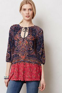 Blushed Paisley Peasant Tunic #anthropologie