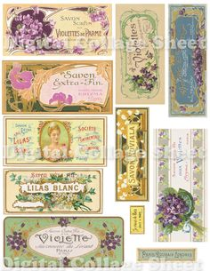 Vintage Soap Labels no096 ATC ACEO cards by SistersScrapbooking, $3.50
