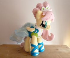 My Little Pony FIM Fluttershy Model Modelshy Custom Handmade plush - OMG this is from my fave episode!