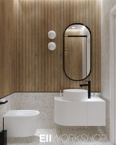 E-neoclassic interior on Behance Bathroom Design Small, Bathroom Interior Design, Modern Bathroom, Bathroom Inspiration, Interior Design Inspiration, Japanese Inspired Bedroom, Toilet Room, Small Toilet, Bathroom Flooring
