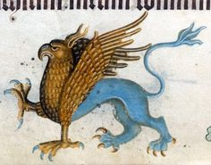 Griffin, Luttrell Psalter, England ca. 1325-1340 (British Library, Add 42130, fol. 160v)