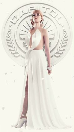 Jena Malone as Johanna Mason for the 'Capitol Couture Living Portraits'. #hungergames #mockingjay