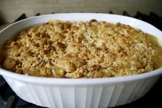 Apple Crisp With Cake Mix Crumble | Cook-Click-Eat-Repeat