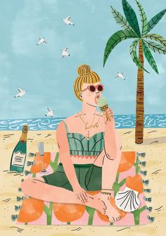 Beach life! Follow us for more illustrations @bookofeveryone