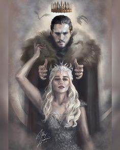 Do you support this couple? #jonsnow #daenerystargaryen #kitharington #emiliaclarke #motherofdragons #kinginthenorth #gameofthrones #got #got7 #whitewolf #drogon #dragon #housestark #housetargaryen #hbo #stark #jonerys #dracarys #georgerrmartin #winterishere #winteriscoming Young Wolf