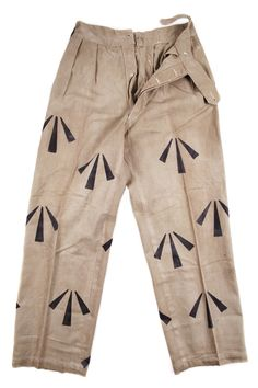 Vintage British prison trouser (with broad arrow print.)