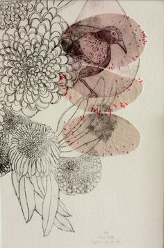 etching and embroidery - Sophie MORILLE designer textile