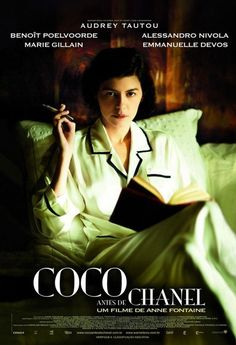 (SDRSP) Coco avant Chanel (Coco Before Chanel) 2009 (dir. Anne Fontaine) Rated 12 - French dramatisation of the early years of iconic French fashion designer Coco Chanel staring Audrey Tautou. Audrey Tautou, Emmanuelle Devos, Jean Claude Pascal, French Film Festival, Jean Gabin, Film Pictures, Films Cinema, French Movies, Kino Film