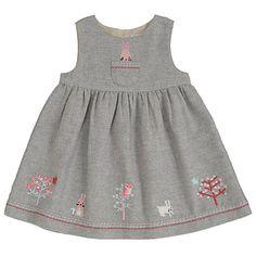 Buy John Lewis Baby's Rabbit Tweed Pinafore Dress, Grey Online at johnlewis.com