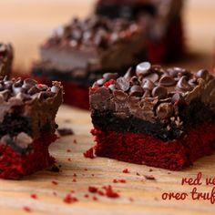 Red Velvet Oreo Truffle Brownie Bars Recipe - ZipList