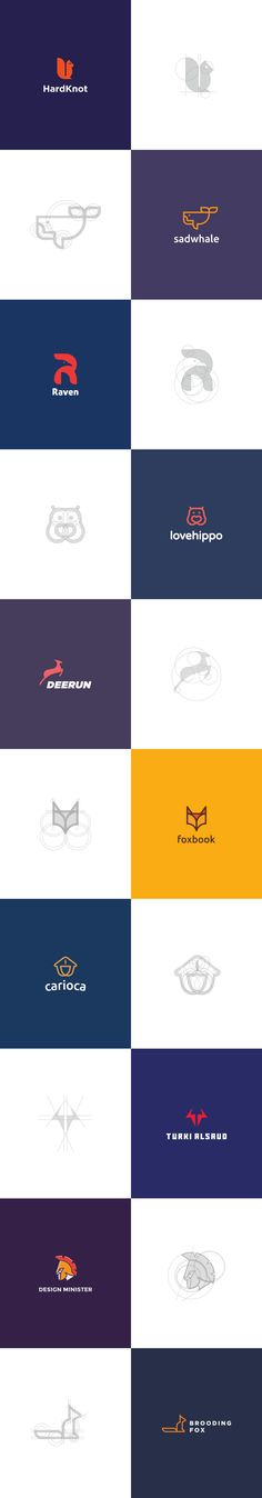 Here is a set of logos that I have created recently. It's a set of logo designs developed with the grid system. Would like to know your thoughts :)