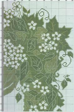 0 point de croix monochrome fille avec fleurs et feuilles dans les cheveux - cross stitch girl, lady with flowers and leaves in her hair part 3