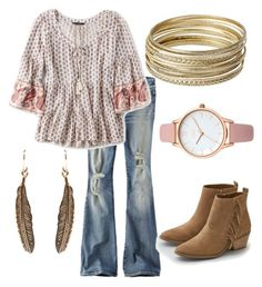 """those boho vibes"" by alexafagrell ❤ liked on Polyvore featuring American Eagle Outfitters, Steve Madden, Wet Seal and Oasis"