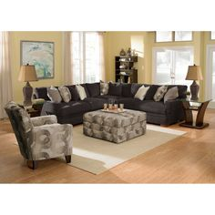 Brookside Ii Spa Pc Sectional Graphite Living Room Furniture