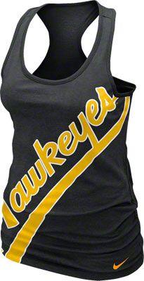 Iowa Hawkeyes Women's Black Nike Boyfriend Tank Top