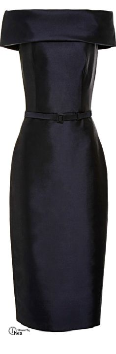 Reem Acra ● Pre-Fall 2015 ~ Ⓣнεα (Love this but in cream or pearl-SG) All Black Dresses, Beautiful Black Dresses, Cute Dresses, Structured Dress, Perfect Little Black Dress, Dressed To The Nines, Effortless Chic, Stylish Outfits, Pretty Outfits