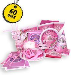 Prinsesse basis pakken til 6 pers.