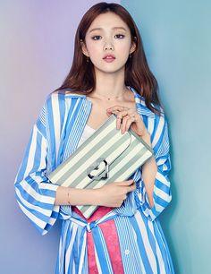 Lee Seong Kyeong by Chun Young Sang for Lovcat Spring 2016 collection Female Actresses, Korean Actresses, Korean Photoshoot, Lee Sung Kyung, Weightlifting Fairy Kim Bok Joo, Song Hye Kyo, Girls World, Korean Celebrities, Korean Model