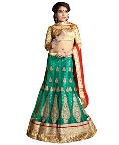 Buy Shapely Green Lehenga Choli online at  https://www.a1designerwear.com/shapely-green-lehenga-choli-3  Price: $41.41 USD