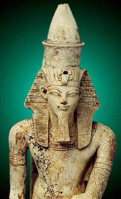 Part of a Statuette of Amenhotep III The Courtyard of the Cachette in the Temple of Amun at Karnak