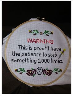 21 Ideas Funny Memes Passive Aggressive Laughing For 2019 Cross Stitching, Cross Stitch Embroidery, Cross Stitch Patterns, Funny Embroidery, Embroidery Sampler, Embroidery Hoops, Embroidery Patterns, Funny Memes, Hilarious