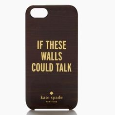 Kate Spade Call To Action iPhone 5/5s Case Pre-loved but in like new condition. Looks exactly as in photo. Golden writing with background made to look like a mahogany wall. Hard plastic. Super cute saying! kate spade Accessories Phone Cases