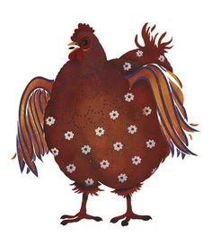 Poulet France Hen Wall Stencil by DeeSigns