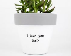 Modern personalized eco-friendly plant pots & by ChickadeePots Plant Pots, Succulent Pots, Planting Succulents, Potted Plants, Thank You Teacher Gifts, Teacher Christmas Gifts, Teacher Appreciation Gifts, Diy Gifts For Dad, Gifts For Father