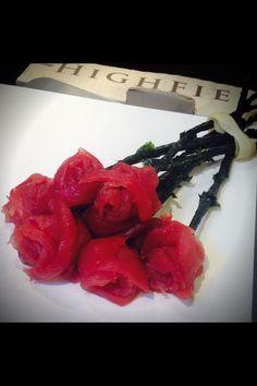 Valentines day! Tuna roses :)